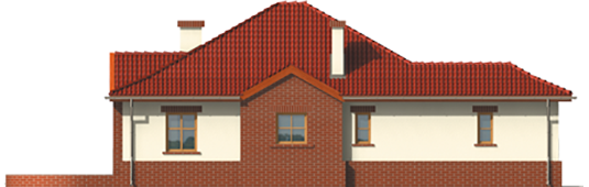 Zaria G1 - Projekt domu Żaneta G1 - elewacja lewa