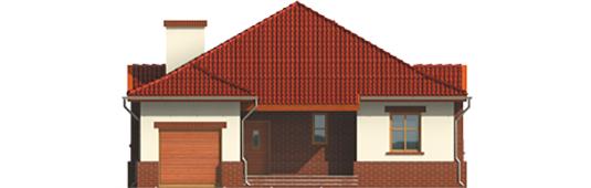 Zaria G1 - Projekt domu Żaneta G1 - elewacja frontowa