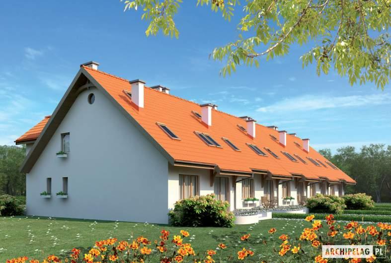 Projekt domu Rozanna III G1 - wizualizacja ogrodowa