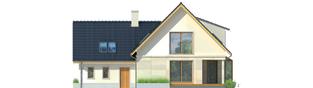 Projekt domu Edit G1 - elewacja tylna