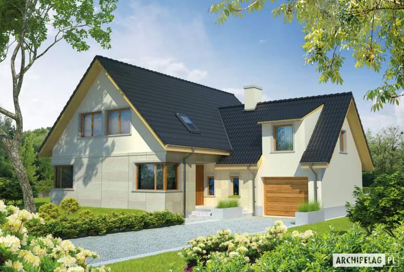 Projekt domu Edit G1 - wizualizacja frontowa