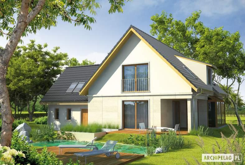 Projekt domu Edit G1 - wizualizacja ogrodowa