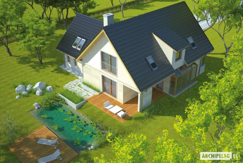 Projekt domu Edit G1 - widok z góry