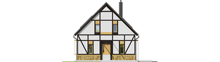 Projekt domu EX 15 ENERGO PLUS - elewacja frontowa