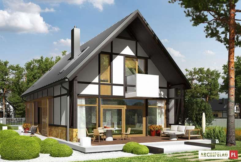 Projekt domu EX 15 ENERGO PLUS - Projekty domów ARCHIPELAG - EX 15 - wizualizacja ogrodowa