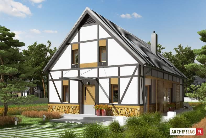 Projekt domu EX 15 ENERGO PLUS - Projekty domów ARCHIPELAG - EX 15 - wizualizacja frontowa