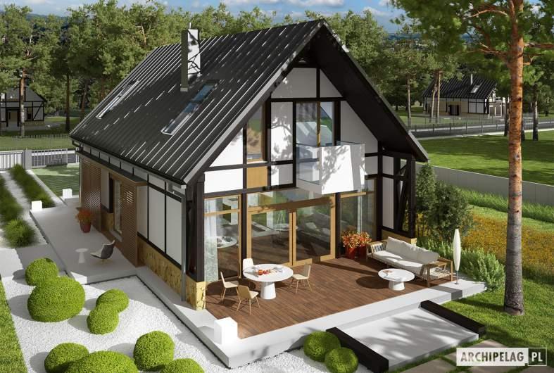 Projekt domu EX 15 ENERGO PLUS - Projekty domów ARCHIPELAG - EX 15 - widok z góry