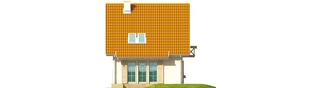 Projekt domu Śnieżynka - elewacja tylna