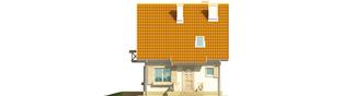 Projekt domu Śnieżynka - elewacja frontowa