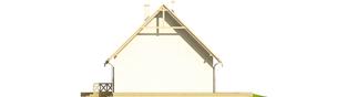 Projekt domu Śnieżynka - elewacja prawa