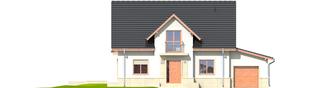 Projekt domu Flawia G1 - elewacja frontowa