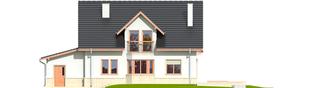 Projekt domu Flawia G1 - elewacja tylna