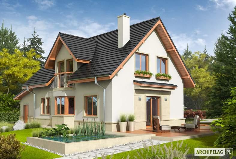 Projekt domu Flawia G1 - Projekty domów ARCHIPELAG - Flawia G1 - wizualizacja ogrodowa