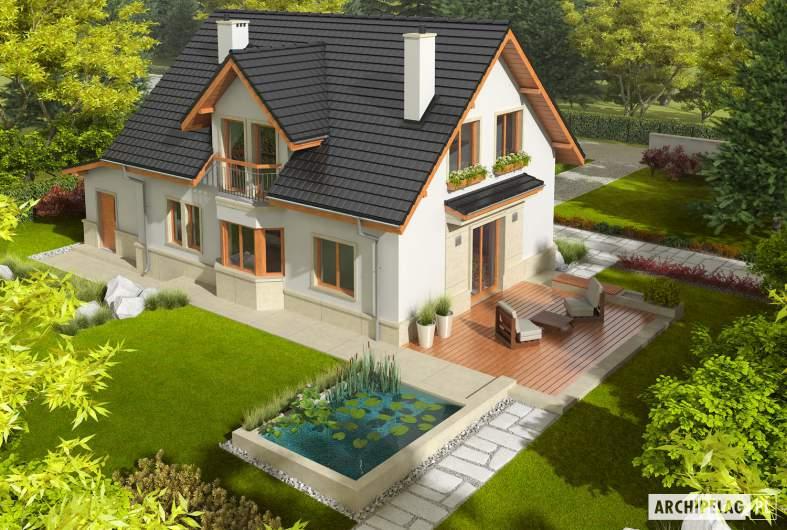 Projekt domu Flawia G1 - Projekty domów ARCHIPELAG - Flawia G1 - widok z góry