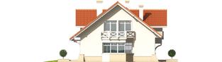 Projekt domu Nadina - elewacja lewa