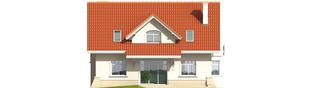 Projekt domu Nadina - elewacja tylna