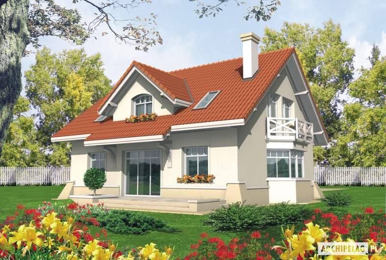 Projekt domu Nadina - wizualizacja ogrodowa