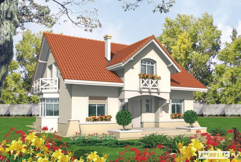 Projekt domu Nadina - wizualizacja frontowa