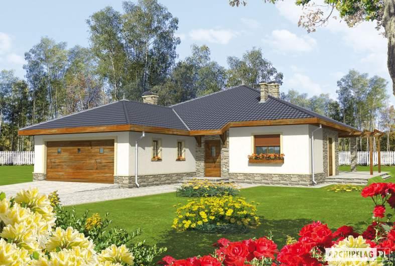Projekt domu Genowefa G2 - wizualizacja frontowa