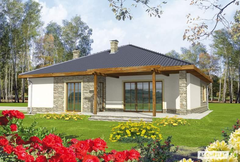 Projekt domu Genowefa G2 - wizualizacja ogrodowa