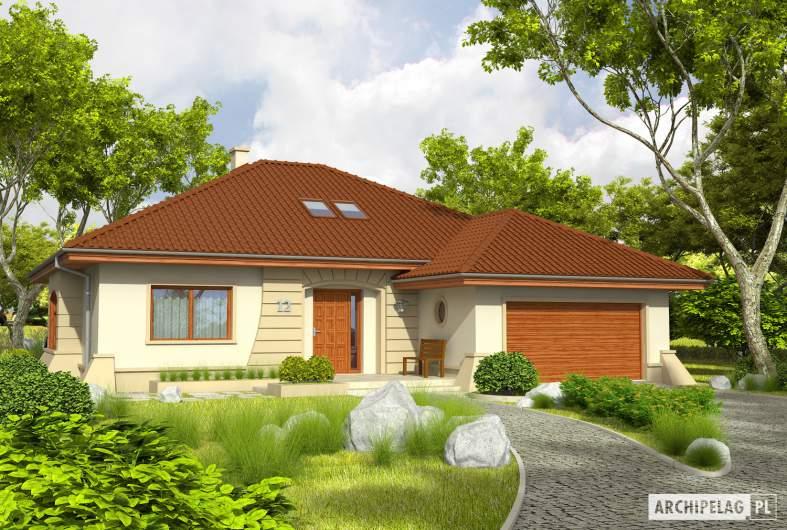 Projekt domu Kornelia II G2 Leca® DOM - Projekty domów ARCHIPELAG - Kornelia II G2 Leca® DOM - wizualizacja frontowa