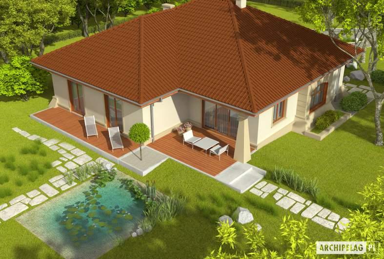 Projekt domu Kornelia II G2 Leca® DOM - Projekty domów ARCHIPELAG - Kornelia II G2 Leca® DOM - widok z góry