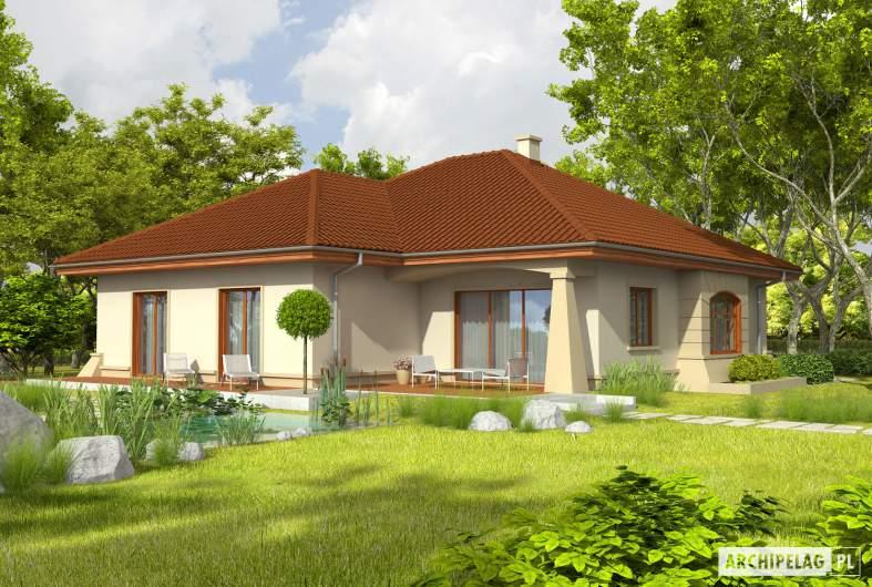 Projekt domu Kornelia II G2 Leca® DOM - Projekty domów ARCHIPELAG - Kornelia II G2 Leca® DOM - wizualizacja ogrodowa
