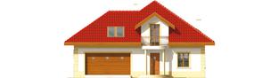 Projekt domu Areta G2 - elewacja frontowa