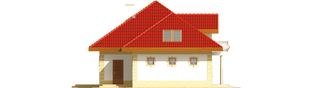 Projekt domu Areta G2 - elewacja lewa