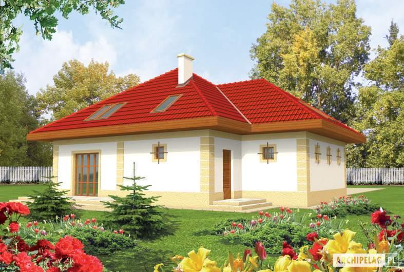 Projekt domu Areta G2 - wizualizacja ogrodowa
