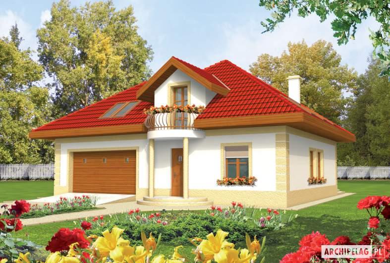 Projekt domu Areta G2 - wizualizacja frontowa