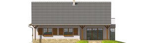 Projekt domu Polarna G1 - elewacja prawa