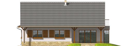 Polina G1 - Projekt domu Polarna G1 - elewacja prawa