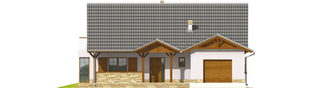 Projekt domu Polarna G1 - elewacja frontowa