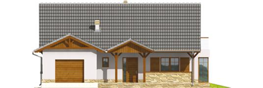 Polina G1 - Projekt domu Polarna G1 - elewacja frontowa