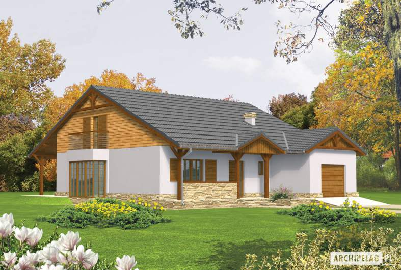 Projekt domu Polarna G1 - wizualizacja frontowa