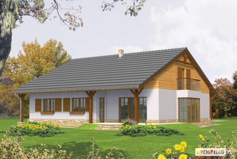 Projekt domu Polarna G1 - wizualizacja ogrodowa
