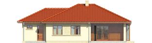 Projekt domu Margo G1 (30 stopni) - elewacja tylna