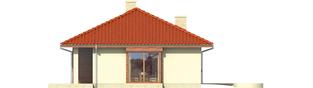 Projekt domu Margo G1 (30 stopni) - elewacja lewa