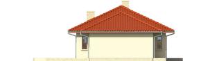 Projekt domu Margo G1 (30 stopni) - elewacja prawa