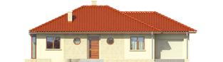 Projekt domu Margo G1 (30 stopni) - elewacja frontowa