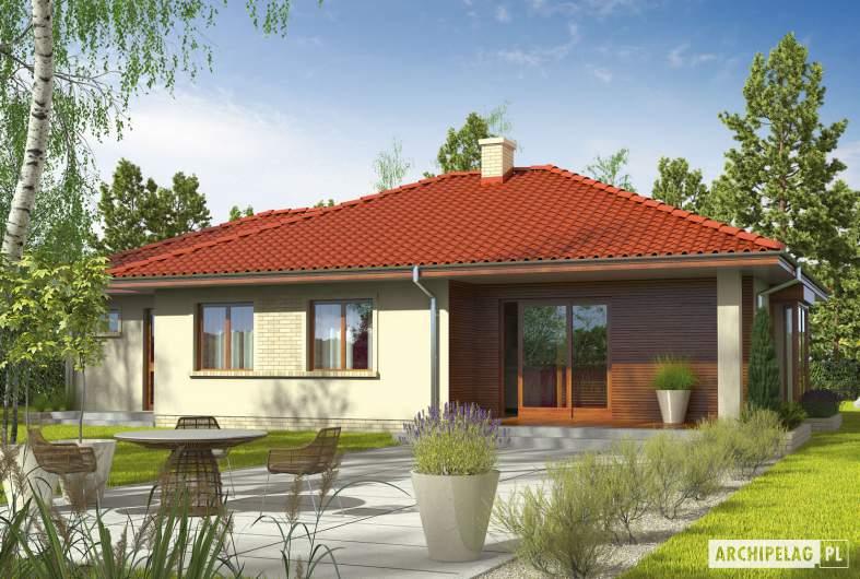 Projekt domu Margo G1 (30 stopni) - wizualizacja ogrodowa