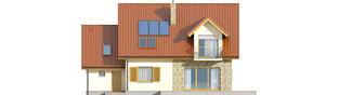 Projekt domu Marisa G1 ENERGO - elewacja tylna