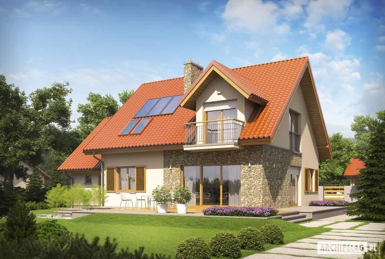 Projekt domu Marisa G1 ENERGO - Projekty domów ARCHIPELAG - Marisa G1 ENERGO - wizualizacja ogrodowa