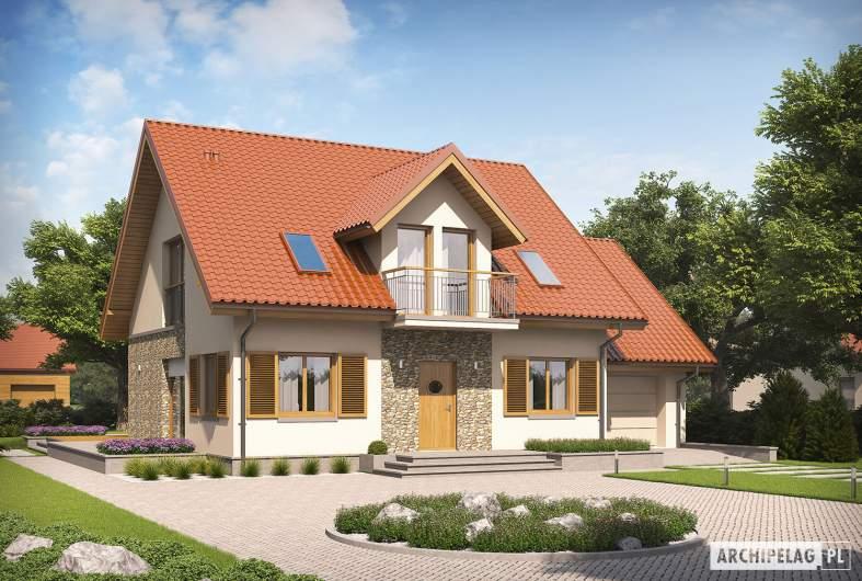 Projekt domu Marisa G1 ENERGO - Projekty domów ARCHIPELAG - Marisa G1 ENERGO - wizualizacja frontow