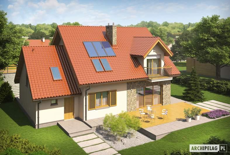 Projekt domu Marisa G1 ENERGO - Projekty domów ARCHIPELAG - Marisa G1 ENERGO - widok z góry