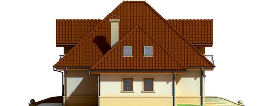 Frank G1 - Projekt domu Frank G1 - elewacja lewa