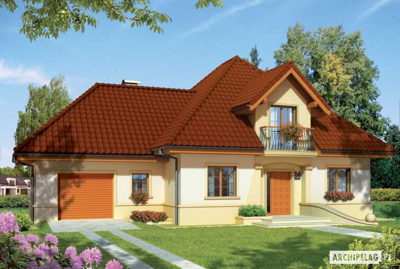 Projekt domu Frank G1 - wizualizacja frontowa