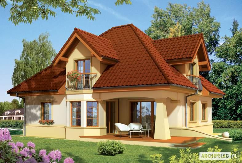 Projekt domu Frank G1 - wizualizacja ogrodowa