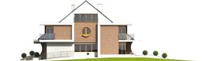 Projekt domu Błażej G2 (bliźniak) - elewacja prawa